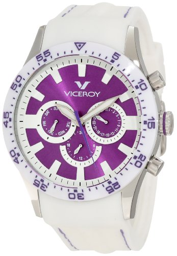 Viceroy Women's 432142-75 Purple Date White Rubber Watch