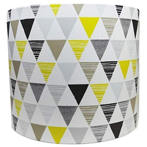 Geometric Light Shade Lampshade Jester Lime Yellow Grey Black Triangle Accessories for Bedroom