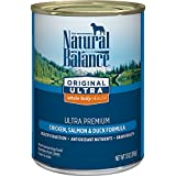 Natural Balance Canned Dog Food, Original Ultra Whole Body Health, Ultra Premium Chicken, Salmon & Duck Formula, 13-Ounce (Pack Of 12)