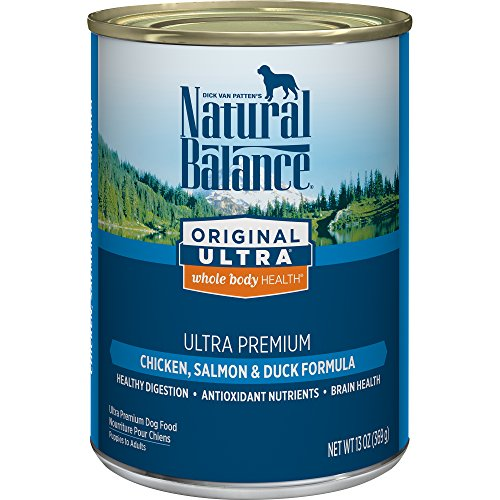 - Natural Balance Canned Dog Food, Original Ultra Whole Body Health, Ultra Premium Chicken, Salmon & Duck Formula, 13-Ounce (Pack Of 12)