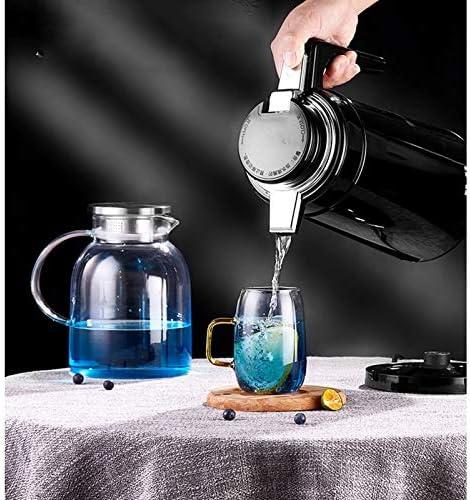 Huishoudelijke elektrische Ketel, RVS waterkoker 2L Fast Kook Automatische uitschakeling voor Sap/melk/thee met grote capaciteit Electric Kettle,Red