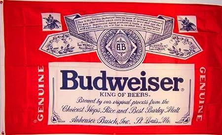 Amazon.com: Bandera de cerveza Budweiser NeoPlex 3x 5 ...