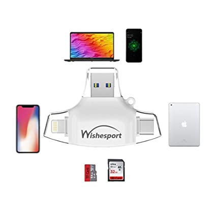 Micro SD Card Reader For Gopro WISHESPORT SD Card Reader,Memory Micro SD  Card Reader USB Type C Adapter Viewer for iPhone iPad Android Mac -  Supports