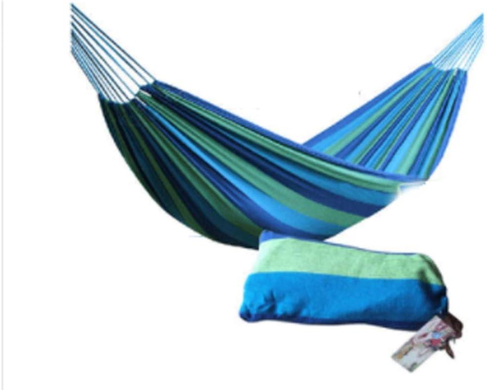 WYH La Seguridad Hamaca Lazy Gruesa Acampar al Aire Libre Doble Plegable Lienzo Columpio Hamaca de Adultos de habitación Individual for niños de Interior. de Confianza (Color : Blue)