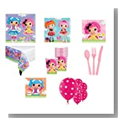 Lalaloopsy Birthday Kit Pink Purple- Plates Cups Napkins Tablecover & More