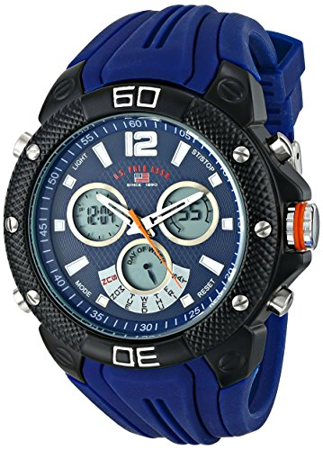 U.S. Polo Assn. Sport Mens US9496 Analog-Digital Display Analog Quartz Blue Watch