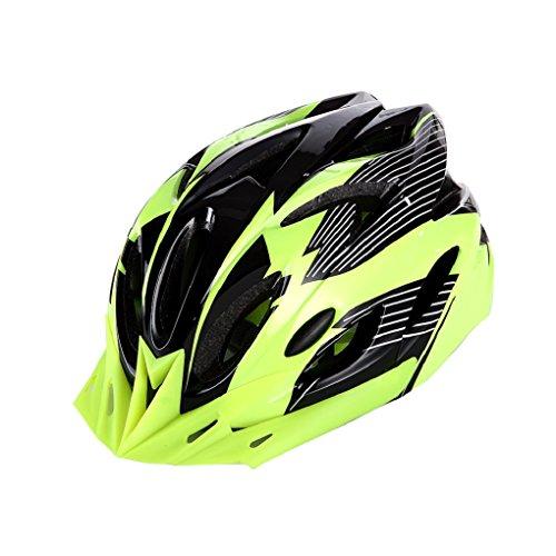 Super Safety Green/Black Bike Helmet Cool Ultralight Adult Road Mountain (Easton Chin Strap)