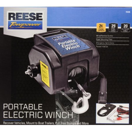 51AuFpqr1NL amazon com reese towpower portable electric winch home improvement Walmart Electric Trailer Winch at downloadfilm.co
