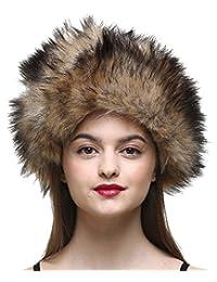 Vogueearth Women'Russian Style Faux Fur Winter Warmer Hat