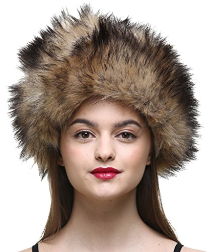 vogueearth Women'Russian Style Winter Warmer Hat Faux-Raccoon for sale  Delivered anywhere in USA