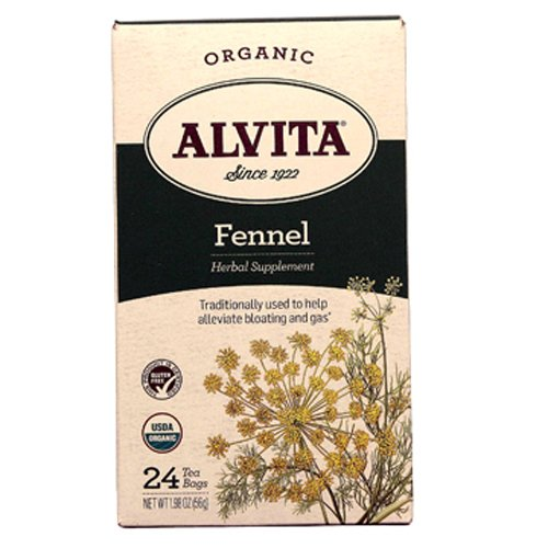 Fennel Seed Tea - Alvita Organic Herbal Tea Bags, Fennel Seed, 24 Count