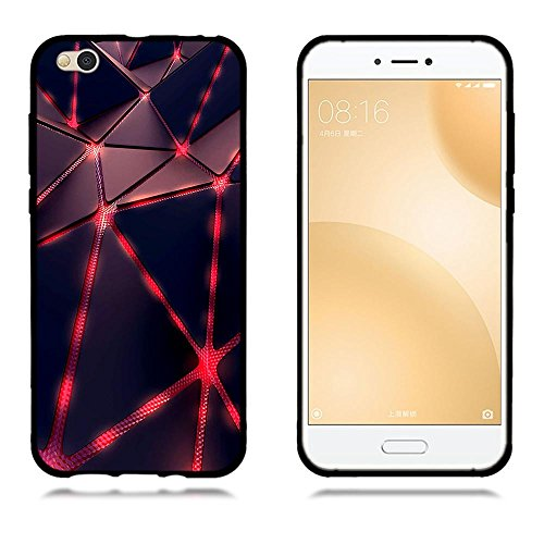 Funda Xiaomi Mi 5c, FUBAODA [Flor rosa] caja del teléfono elegancia contemporánea que la manera 3D de diseño creativo de cuerpo completo protector Diseño Mate TPU cubierta del caucho de silicona suave pic: 14