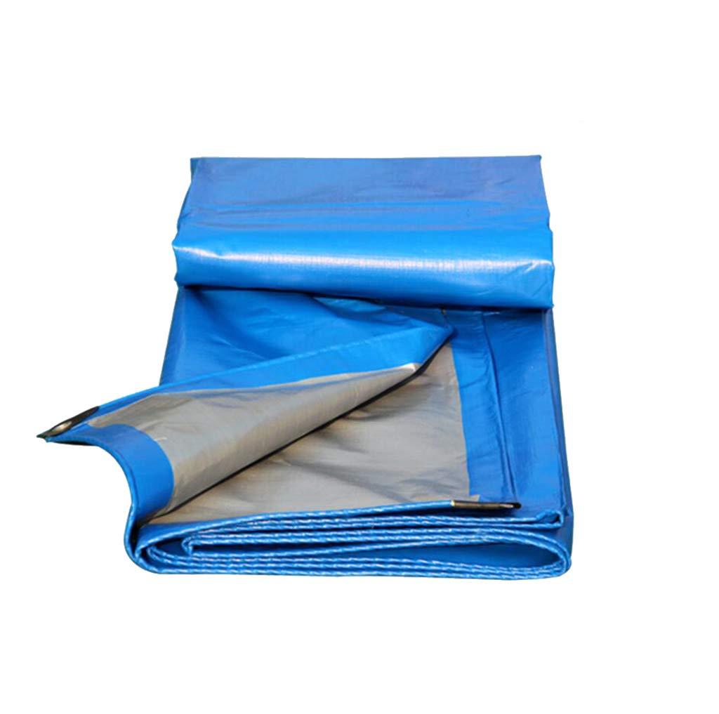 Blaue Zeltplane im Freien verdicken Regenschutztuch Schatten Hochwasserschutz Shedtuch LKW Auto Transporttuch verschleißfeste Zeltzubehör