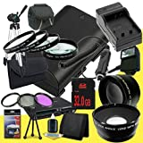 Canon EOS 70D DSLR Camera with 18-55mm STM f/3.5-5.6 Lens LP-E6 Lithium Ion Replacement Battery and External Rapid Charger + 32GB SDHC Class 10 Memory Card + 58mm 3 Piece Filter Kit + Full Size Tripod + 58mm Macro Close Up Kit + 58mm 2x Telephoto Lens + 5