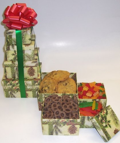 Scott's Cakes 4 Tier Pine Cone Box Chocolate and Candy Lovers Surprise
