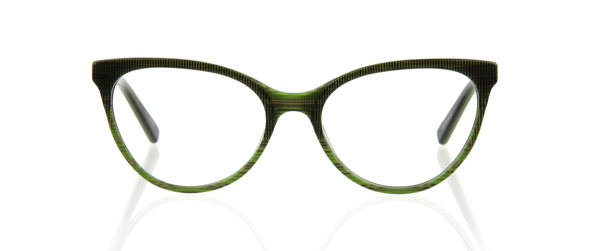eyebobs Mwah! Women's Premium Reading Glasses, Green Black Multi Front and Temples, 2.50 Magnification