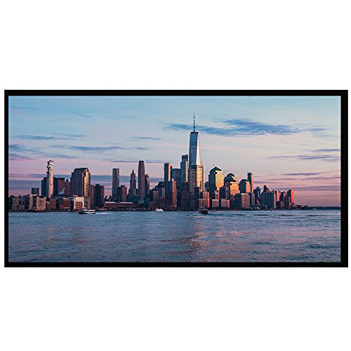 High Contrast Cinema Vision Material - Projector Screen, 120 Inch Indoor Outdoor Projection Movie Screen Diagonal 16:9 Aspect Ratio, 4K Ultra HD for HDTV Home Cinema Theater, 6 Piece Fixed Frame, 1.1 Gain, Black Material