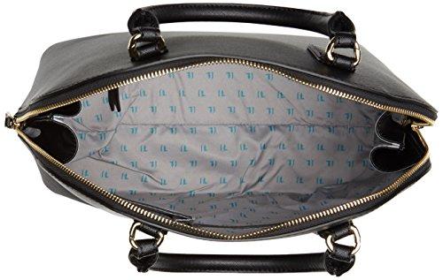 Trussardi Jeans Ischia Dome, Borsa a Mano Donna, 38x38x16 cm (W x H x L) Nero (Black P17)