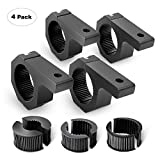 Nilight 90021D 4-Pack (Standard) 4PCS Mounting Bracket Kit LED Off-Road Light Horizontal Bar Tube Clamp Roof Roll Cage Holder - 2 Years Warranty