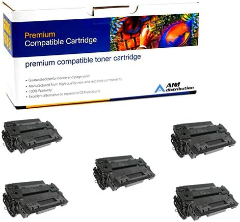 5//PK-12500 Page Yield CRG-524II5PK - Generic AIM Compatible Replacement for Canon LBP-6700//6750//6780 Black Toner Cartridge