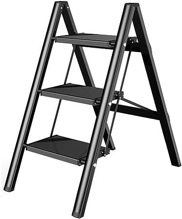 AJJZX Paso Taburete de Aluminio Pies Paso Escalera, Escalera Doble Frontal con Rango de Trabajo: Amazon.es: Hogar