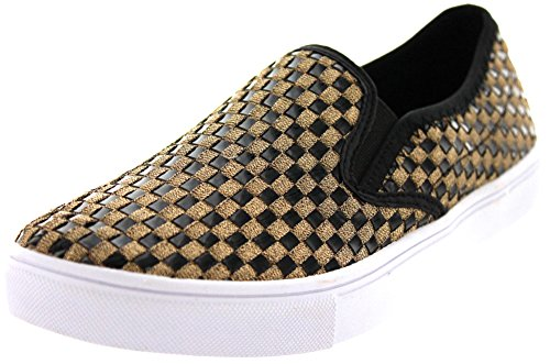Bernie Mev Kvinners Verona Mote Sneaker Bronse Patent