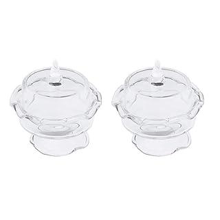 P Prettyia 2 Pezzi Torte Rotonde Cibo Bevanda Servire Vassoio Miniature Utensili da Cucina Kitchenware - Senza Coperchio