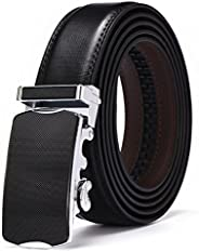 XDeer Men's Leather Ratchet Dress Belts with Automatic Buckle Gift