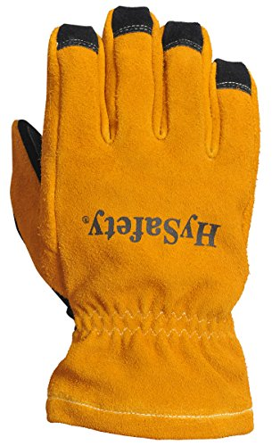 HySafety 7882XL 3D Style Structural Firefighting Glove with Open Cuff Meets NFPA 1971-2013 Standards Leather, X-Large, X-Large