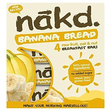 Nakd barras avena Cake plátano – sin gluten, sin lactosa, Crue Certificado Paléo,
