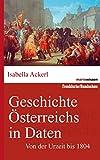 Geschichte Österreichs in Daten: Von der Urzeit bis 1804 (marixwissen)