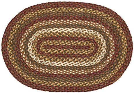 VHC Brands 10713 Rustic Lodge Flooring-Tea Cabin Green Oval Jute Rug, 20 x 30, Non-Stenciled