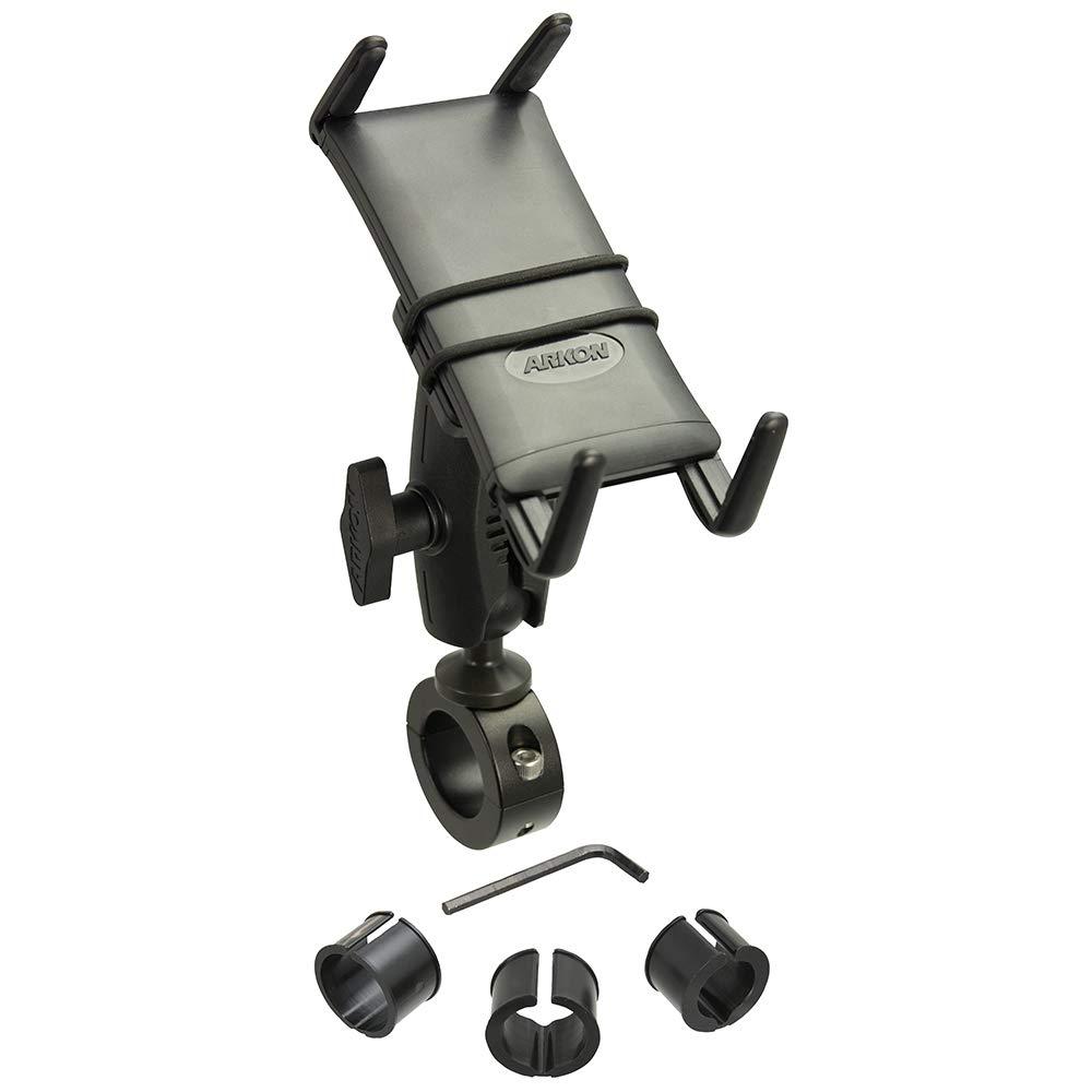 Arkon Slim Grip Ultra 25mm Robust Motorcycle Handlebar Mount for Phones and Midsize Tablets Black Retail by ARKON