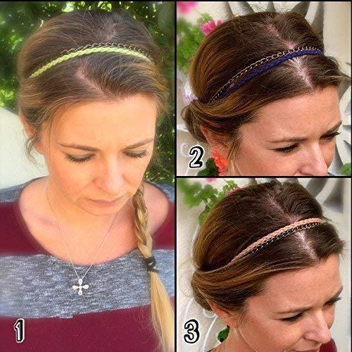 prix favorable  moins cher Cadeau pour femme : Headband bohème en cuir, Bijoux de tête ...