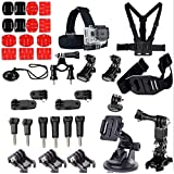 GoPro Hero 5 4 3+ 3 2 1 sports action camera accessories set self-timer rod bra strap with support SJ4000 (37 in 1)