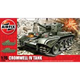 Hornby Airfix A02338 Cromwell Cruiser Model Building Kit, 1:76 Scale