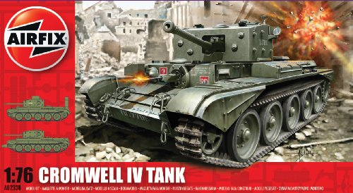 Airfix A02338 Cromwell Cruiser Model Building Kit, 1:76 (Easy Level)
