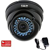 VideoSecu WDR Outdoor CCTV Home Surveillance Security Camera Infrared Day Night Vision 1/3 Pixim DPS 690TVL Varifocal Lens High Resolution Built-in IR Cut Filter Switch with bonus Power Supply CAH