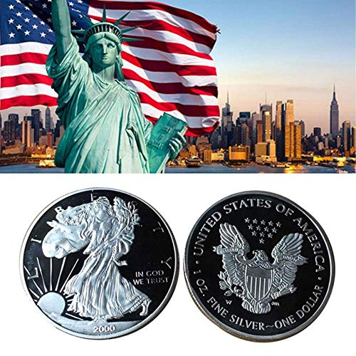 (MarshLing American Eagle US Non Currency Coins Collection Non Magnetic Decor Replica Coins Perfect Quality)