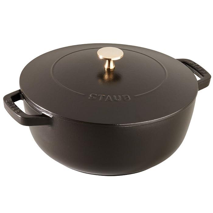 Staub 11732423 Cast Iron Essential French Oven, 3.75-quart, Matte Black