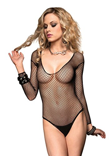 81154 Industrial Net Deep V Long Sleeved Teddy