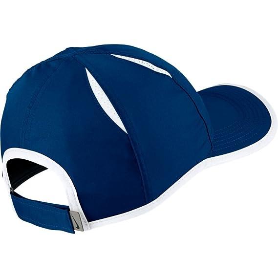 f15abcaa19c95 Nike Aerobill Featherlight Visière de Tennis pour Femme Taille Unique Blue  Jay/Black/White: Amazon.fr: Sports et Loisirs