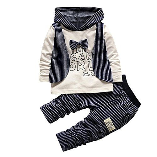 KEERADS Baby Clothes, 2PCS Baby Boys Stripe Hoodie Tops+Pants Outfits...