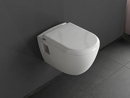 Aqua Bagno Art-of-Baan Wall-Hung WC with Seat Leia: Amazon.co.uk ...