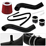 """For Acura Integra GSR 1.8L DC2 B18c 2.75"""" Black Racing Cold Air Intake Induction System + Red Cone Air Filter"""