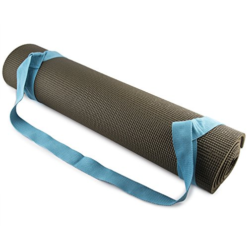 - Fit Spirit Adjustable Cotton Yoga Mat Carrying Strap - Blue