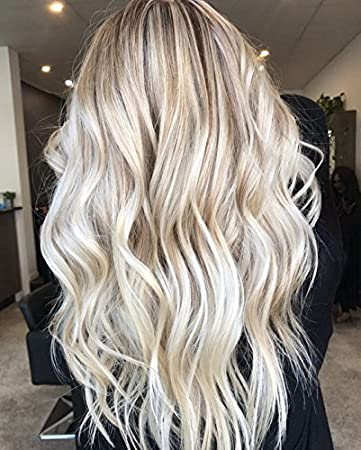 Amazon Com Ugeat 18 Inch Flat Tip Fusion Hair Ash Blonde Mix With