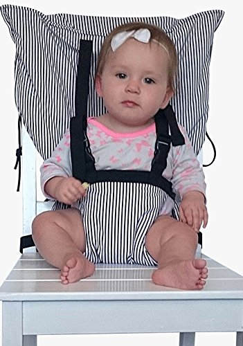 - Portable Travel Baby and Toddler High Chair Harness Seat Cover. Adjustable, Secure, Washable, Soft, Comfortable Infant Safety Booster Chair