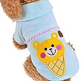 Freerun Comfort Cute Cartoon Ice Cream Pet Puppy Pet Dog Cat Cotton T-Shirt Clothes Apparel - Green, S