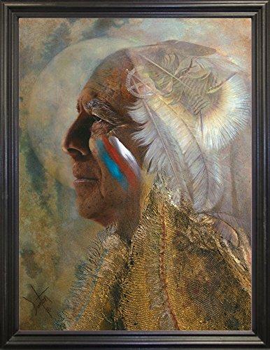 Frame USA Wicasa Wakan (the Holy Man) Framed Print 42.5''x31.5'' by Denton Lund, 42.5x31.5, Black Grande by Frame USA